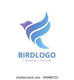 Abstract Bird Logo design vector template.