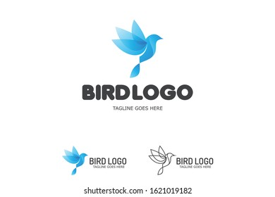 Abstract Bird logotype for Corporate company