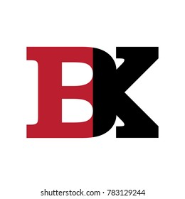 Abstract BK Initials Logo