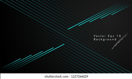 abstract black background with diagonal lines, cyan color