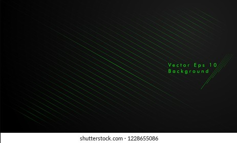 abstract black background with diagonal lines, green color