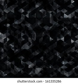 abstract black background with shiny lights on dark black background. ideal for cover design, techno concept works.