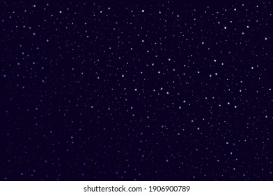 Abstract black background with stars for your design. Vector starry night sky. Space backdrop.