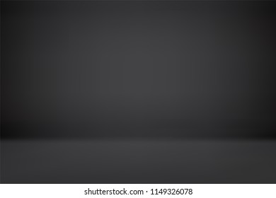 abstract black backgrounds gradient vector illustration, room, interior, display products