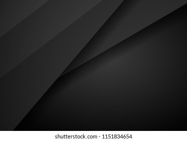 abstract black with Dark frame template layout design tech concept background