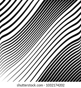 Abstract Black Diagonal Striped Background . Vector parallel slanting, oblique , distorted lines texture
