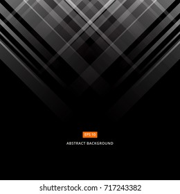 Abstract black and gray technology design. Vector corporate geometric lines background with copy space, Vector illustration