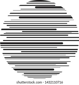 Abstract black lines in round shape for design and web