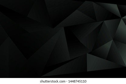 Abstract black low polygon style background. Creative vector design template geometric shape for use modern element cover, banner, wallpaper, poster, flyer, corporate, advertising, website