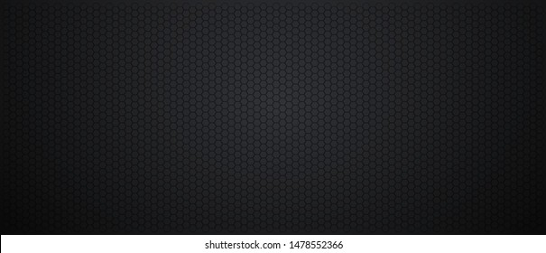 Abstract Black metal texture steel background. Perforated sheet metal. Dark cool background. Vector illustration.