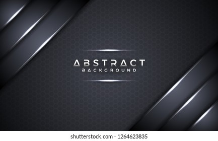 Abstract black metallic 3D vector background. text can be replaced with your text. EPS10 Vector