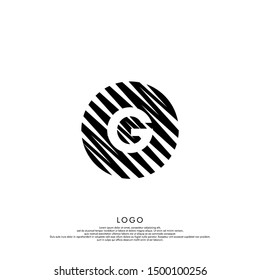 abstract black modern circle G logo letter design suitable for web and company