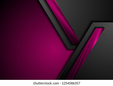 Abstract black and purple technology corporate background. Vector design