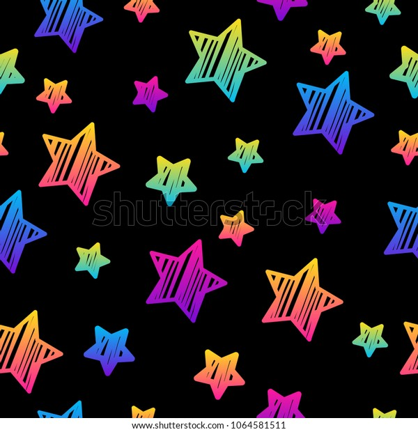 Abstract black and rainbow seamless pattern background.Modern swatch paint for birthday card, party invitation, sale wallpaper, holiday wrapping paper, fabric, bag print, t shirt, workshop advertising