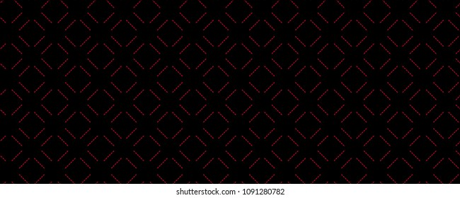 Abstract black and red geometric lines seamless pattern. Abstract vector background for web, illustrations, textures, fabrics etc.