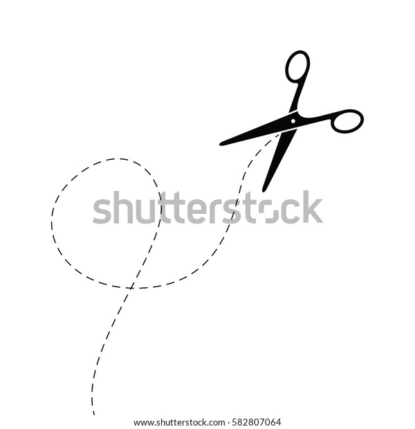 abstract black scissors