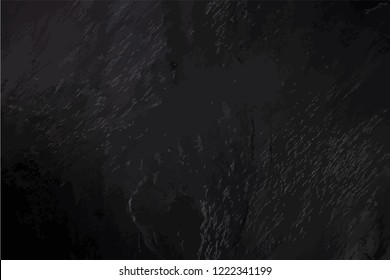 An abstract black slate background, a dark frame with a place for text, a vector texture