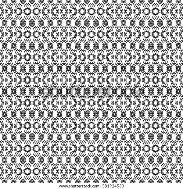 Abstract black sophisticated pattern for retro design