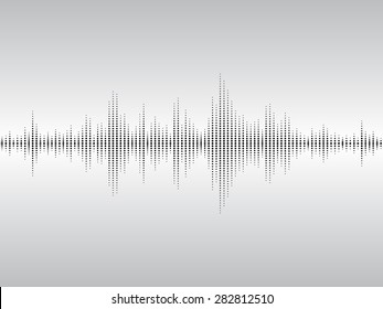Abstract black sound waves background for parties, clubs, discos and concerts.