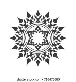 Abstract black star. Decorative element.