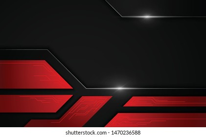 abstract black tech sports concept background eps 10 vector
