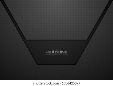 Abstract black technology concept background. Vector design