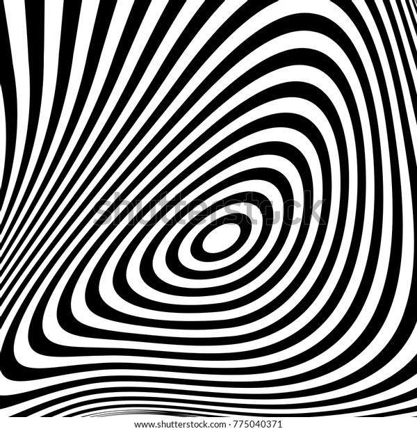 Abstract Black White Background Geometric Pattern Stock
