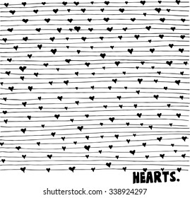 abstract black and white background with line and heart