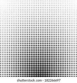 Abstract black and white dotted background
