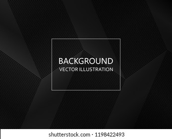 Abstract black and white geometric background. Vector illustration