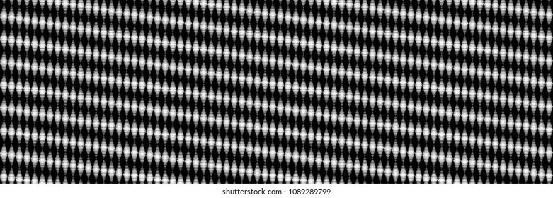 Abstract Black and White Geometric Pattern with Points. Halftone Dotted Background. Contrasty Optical Psychedelic Illusion. Vector Illustration