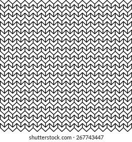 Abstract Black & White Light Chevron Geometric Pattern
