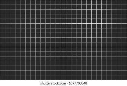 Abstract black and white mesh grid pixels. Dark colors squares black. Monochrome halftone effect. Abstract background pattern for design. Grunge texture. Vector illustration eps10.