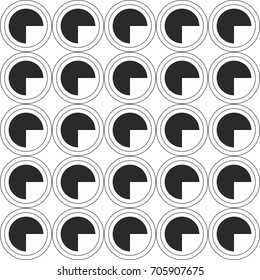 abstract black and white monochrome circle dots pattern background vector