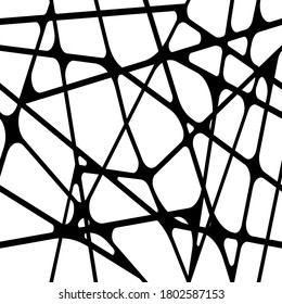 Abstract black and white seamless pattern. Biomorphic monotone texture