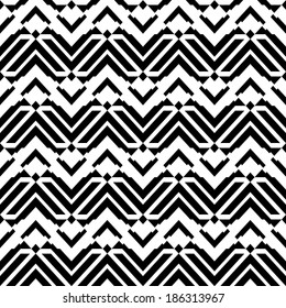 Abstract black and white seamless pattern (vector version)