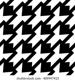 Abstract black and white texture, vector geometric seamless pattern