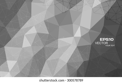 Abstract black and white triangle background, vector illustration eps10