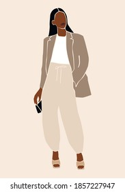 Abstract black woman. Fashion girl portrait.