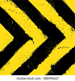 Abstract black and yellow background with ink blots