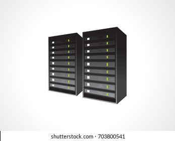 abstract blade server icon vector illustration