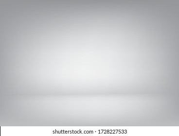Abstract Blank Background with white and grey gradient design to white backdrop with smooth light and shadow.