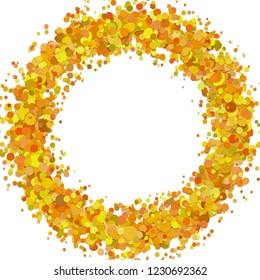 Abstract blank confetti circle background template with scattered dots - vector graphic design
