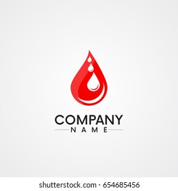 abstract blood drop/ blood donation company vector logo design