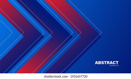 Abstract blue background and arrow, background with copy space for design, vector.