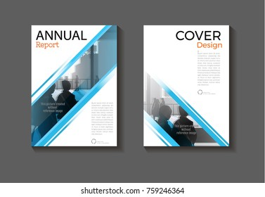 abstract blue background modern cover design modern book cover Brochure cover  template,annual report, magazine and flyer layout Vector a4