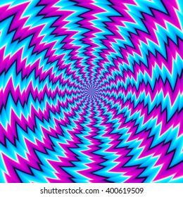 Abstract blue  background with spin illusion