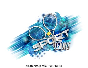 abstract blue background sport tennis
