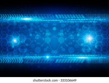 abstract blue background technology concept. illustration vector design.