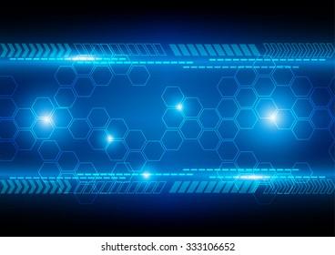 abstract blue background technology concept design. illustration vector design.